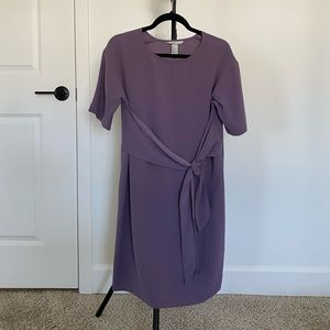 H&M purple dress. Knot in the front